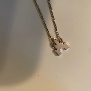 Silver Disney castle necklace